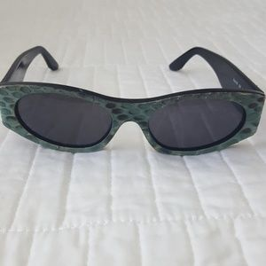 Robert Cavelli Snakeskin Leather Sunglasses
